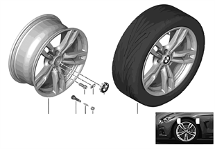 BMW LA wheel M Double Spoke 441 — 18''