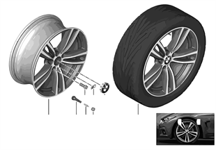 BMW LM-velg M dubele spaak 442 — 19''
