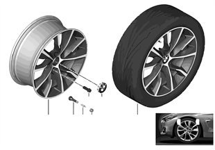 BMW LA wheel Turbine Styling 402 — 19''