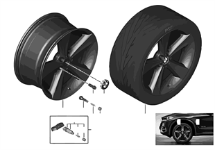 BMW 輕質合金輪輞 星形輪幅 128
