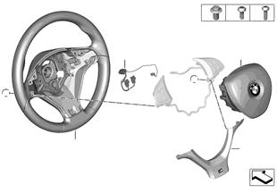 M Volante sportivo airbag pelle