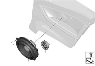 R スピーカー単体部品