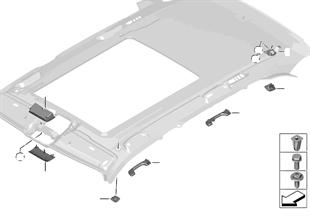 Piezas de montaje del interior del techo