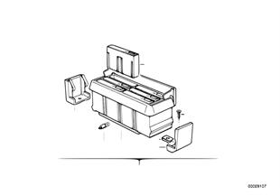 Parts f center console cassette box
