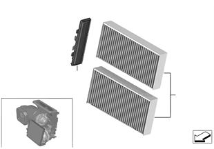Микрофильтр/фильтр с активирован.углем