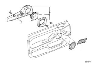 Onderdelen deur voor stereo-systeem