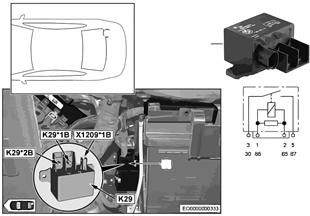 リレー 分離 2. バッテリー K29