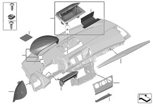 Montaj parçaları, gösterge paneli, üst