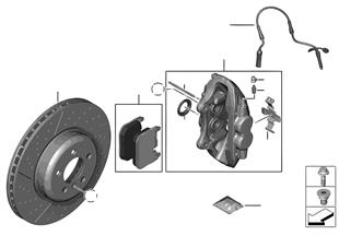 Klocek hamulcowy przed. koła, Power Kit