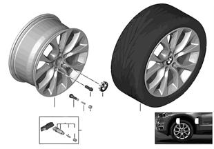 BMW 輕質鋁合金輪輞 V 型輪輻 450 - 19''