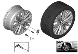 BMW 輕質鋁合金輪輞 多輪幅 448 - 19''
