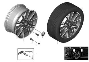 BMW 輕質鋁合金輪輞 星形輪輻 449 - 19''