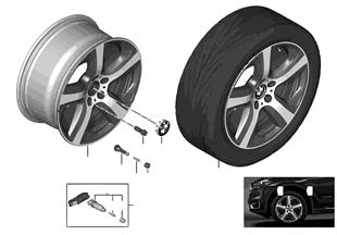 BMW 輕質鋁合金輪輞 星形輪輻 490 - 19''