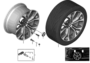 BMW 輕質鋁合金輪輞 Y 式輪幅 451 - 20''