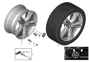 BMW 輕質鋁合金輪輞 M 雙輪輻 467 - 19''