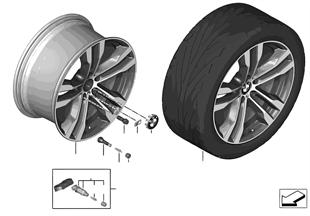 BMW 輕質鋁合金輪輞 M 雙輪輻 468 - 20''