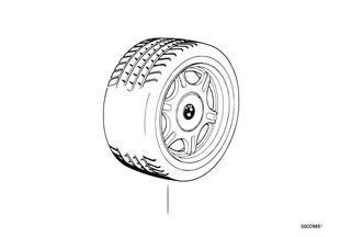 Jeu de roues styling a rayons en etoile