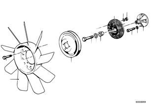 Kühlsystem-Lüfter/Lüfterkupplung