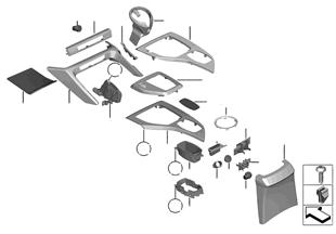 Anbauteile Mittelkonsole