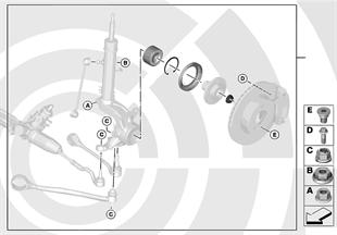Kit réparation roulement de roue avant