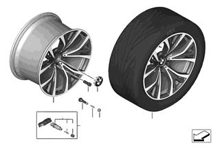 BMW 輕質合金車輪 Y 型輪幅 627