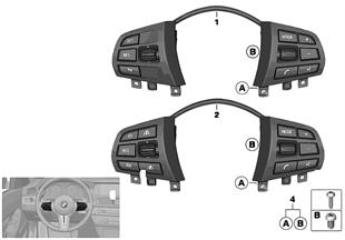 스위치, 다기능 스티어링 휠, 기본 버전