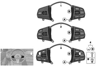 Bloc touches volant multifonction Sport