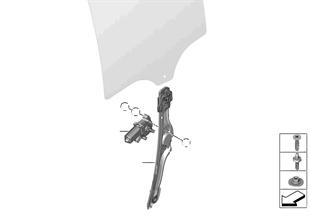 Mecanis.d.la ventanil.d.la puerta traser