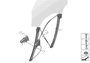 Mecanis.d.la ventanil.d.la puerta delant