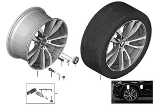 BMW 輕質鋁合金輪輞 M 雙輪輻 469 - 20''