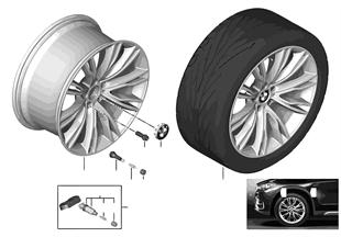 BMW 輕鋁合金輪 個性化 V 型輪輻 551 -20''