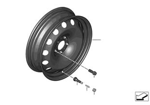 應急備用輪胎 鋼製 黑色