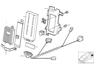 Pièces pour SA 632 — coffre à bagages