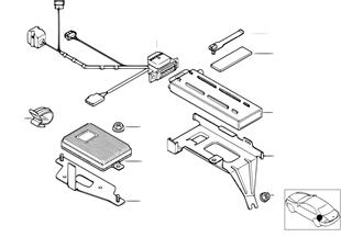 Детали SA 624 в багажнике