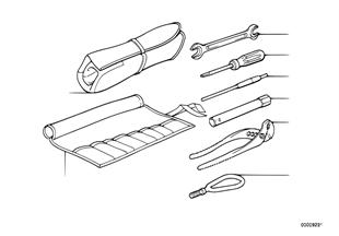 Trousse à outils avec outillage