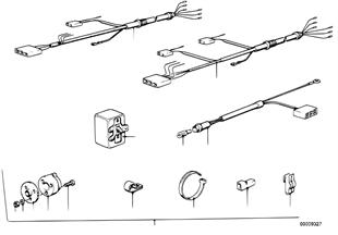 Chicote de cabos para gancho de reboque