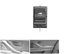 Switch, power window passenger side/rear