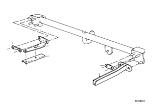 Single parts of trailer hitch