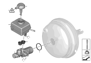 Maitre cylindre de frein/vase d'exp.