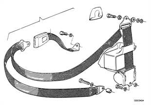 Safety belt rear