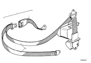 Safety belt rear, single parts
