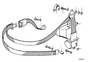 Piezas de cinturon de seguridad trasera