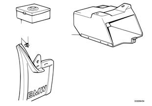 Mud flap/spare bulbs box