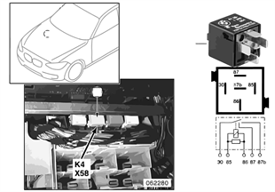 Реле вентилятора отопителя K4