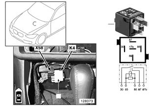 Relé do ventilador do aquecimento K4