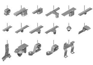 Různé kabelové držáky