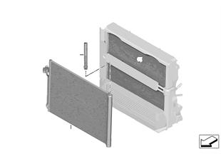 Condensador sistema d acondiziona d aire