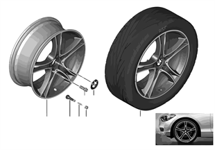 BMW LA wheel Double Spoke 361-19''