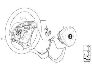 Volante deportivo airbag, cuero