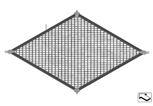 Boot/trunk floor net